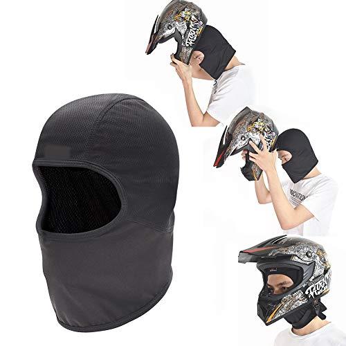 TZTED Balaclava Maske Herren Fahrrad Maske Moto-Cross Fahrradkopfbedeckung Helmfutter Schnell trocknend Reiten gegen Umweltverschmutzung Hutmaske,Schwarz -