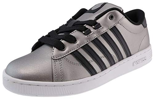 K-Swiss Hoke Gunmetal Black Mädchen_Sneaker, Groesse:37.0_us04.5_uk04.0k