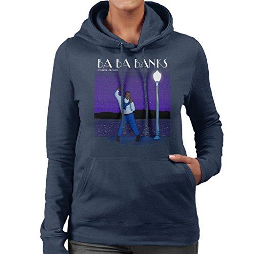 Fresh Prince Of Bel Air La La Land Carlton Banks Mix Womens Hooded Sweatshirt Navy blue