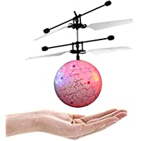 Jimmkey RC Toy RC Drone Helicopter Ball Colorful Flyings for Kids RC Flying Ball Teenagers Toy Funny Toy Creative Toy Electric Ball LED Flashing Light Aircraft Mini Induction Toy - Compare prices on radiocontrollers.eu