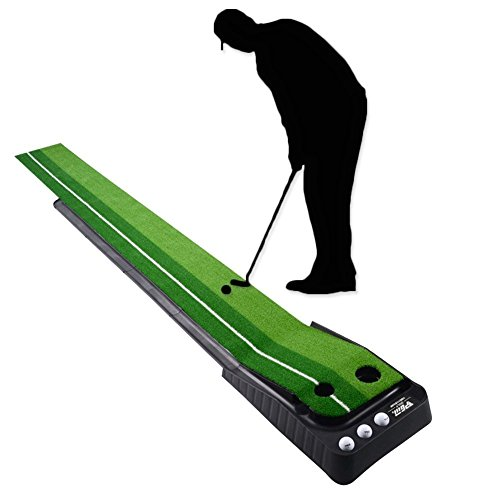 Signstek Indoor Outdoor Golf Auto Rückkehr Puttingmatte, Putting Trainer Matte