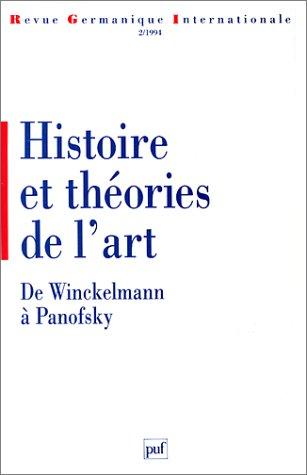 Histoire et thories de l'art. De Winckelmann  Panofsky.