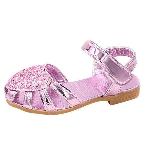 Pingtr - Sandalen Mädchen Sommer Schuhe Prinzessin Sandaletten,Mädchen Pailletten lieben Baotou Sandalen Prinzessin Schuhe