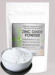 Zinc Oxide Powder By Sky Organics 16oz- Uncoated & Non-Nano- 100% Pure Cosmetic Grade- For DIY Sunscreen, Lotion, UVA and UV
