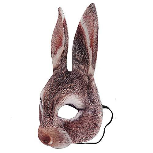 Floweworld Unisex Tiermaske Bösewicht Kostüm Halloween Karneval Halbes Gesicht Tiermaske Partys Tänze Karneval (Bösewicht Halloween Kostüm)