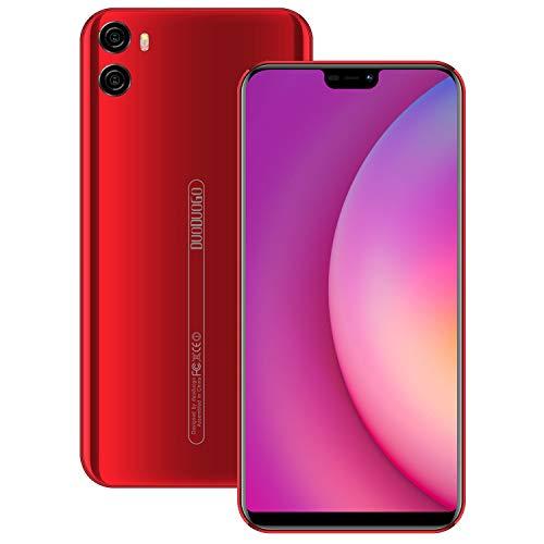 "Moviles Libres 4G, 4GB RAM + 64GB ROM Android 8.1 5.85"" FHD Dual SIM Cámara 12MP+5MP Telefono Móvil 4200mAh Bateria Smartphone Libres (Rojo)"