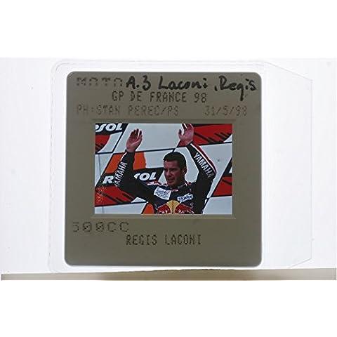 Slides photo of Régis Laconi at the Grand Prix de France, 1998.