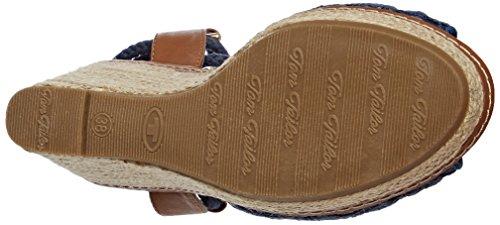 Tom Tailor 2790809, Scarpe Col Tacco con Cinturino a T Donna Denim (Jeans)