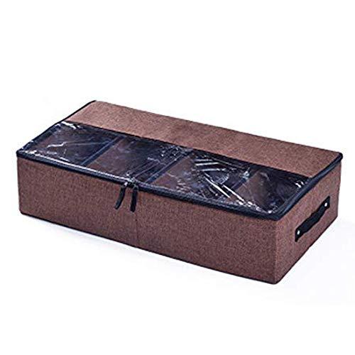Faltbare Aufbewahrungsbox Schuhkarton Stapelbar Storage Box Aufbewahrungstasche Schuhaufbewahrung mit Deckel und Griffe zur Lagerung für Schuhe, Stiefel,Bekleidung, Spielzeug (Storage Box Spielzeug)
