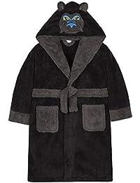 4 KIDZ Garçon Adolescent Nouveauté Robe de Chambre Habillage Gorille Loup