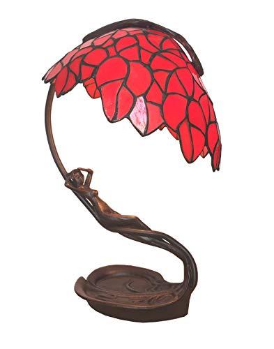 Schreibtischlampe Tiffany Lampe Sonnenanbeterin rot 44 -