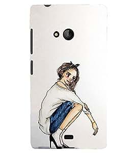 A2ZXSERIES Back Case Cover for Microsoft / Nokia Lumia 540