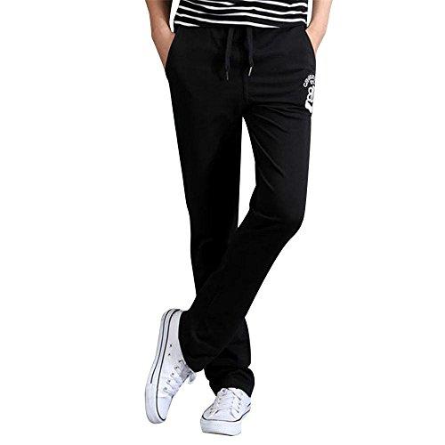 Heatgear Compression Legging Fit (Herren Laufhose/ Herren Jogginghose,Bovake Baumwollsporthosen beiläufige dünne Hosen Männer Harem {Bleistift-Hosen} (Black, M))