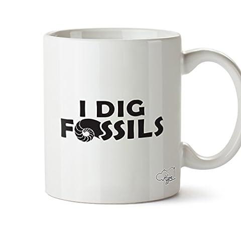 hippowarehouse I Dig Fossilien 283,5Tasse, keramik, weiß, One Size (10oz)