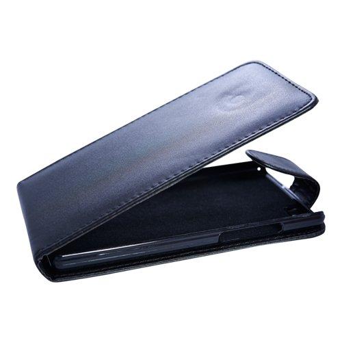 Flip Case Etui Handytasche Tasche Hülle für Huawei P8 Lite (2015) (Schwarz)