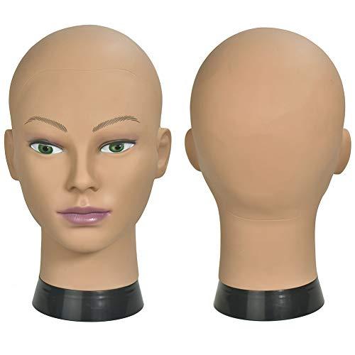 ErSiMan Frisierkopf für weibliche Frisierpuppe, für Perücken, Perücken, Hut, Display und Brille, 12 A