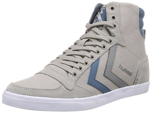 Hummel HUMMEL SL STADIL CANVAS HI, Sneaker alta Unisex - adulto, Grigio (Grigio (Dove 1018)), 43