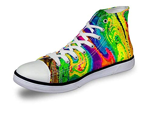 Women Ladies Girls Canvas Shoes High Top Winter Lace up Sneakers CA5403AK Women¡®s us Size 10=Men's us SI.
