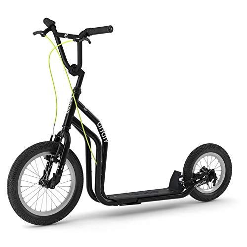 Yedoo Bianco-Oro Monopattino-Kick Bike-con ruote pneumatiche per adulti fino a 120kg Scooter a partire da 12anni viene parzialmente montato in scatola di cartone