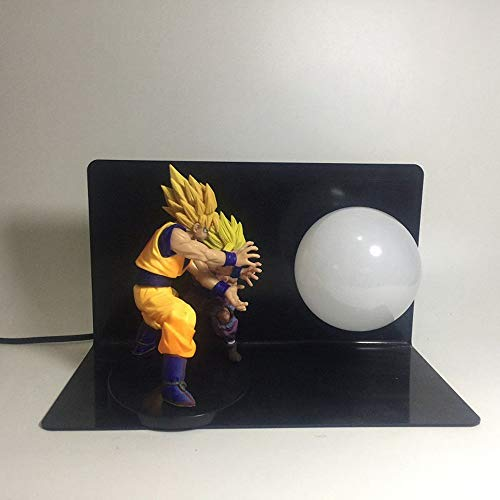 Doble Dragon Ball Son Goku Y Son Gohan Bombas Led Noche Luz Luz Sala De Regalo Decorativo Lámpara Led En Enchufe