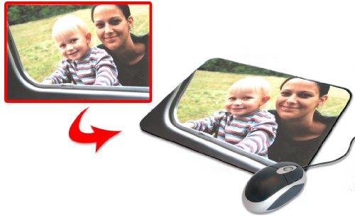 Preisvergleich Produktbild Mouse-Pad mit Ihrem eigenen Lieblingsfoto, ca. 24 x 19 cm, rutschfeste Kautschuk-Unterlage