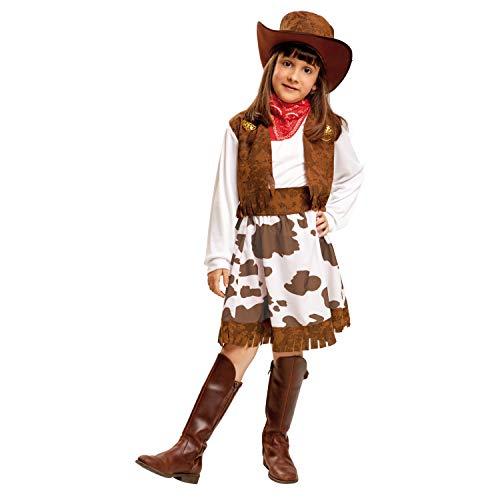 My Other Me-Costume de cowboy pour fille, Blanc et marron (viving costumes) 3-4 años Blanc et marron