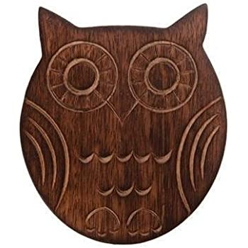 Sass & Belle Set of Six Wooden Owl Coasters