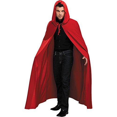 Knöchellanger roter Umhang mit Kapuze - (Delight Erwachsenen Kostüme Devils)