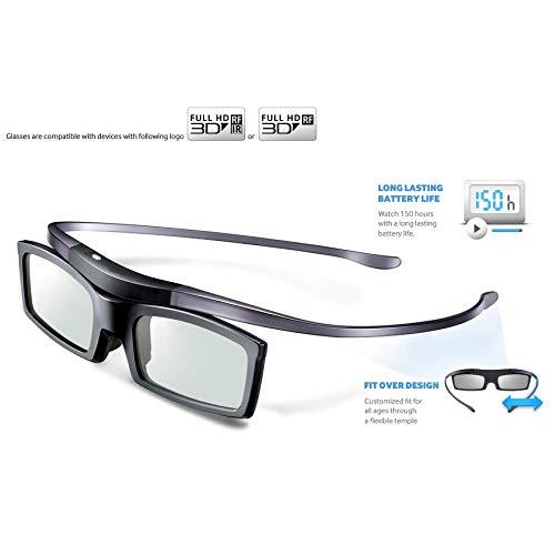 FidgetGear SSG-5150GB SSG-5100GB - Lote de 4 Gafas de TV para Samsung 4K HD UHD SUHD 3D