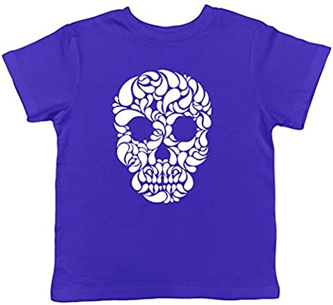 Skull Head Gothic Childrens Kids Short Sleeve