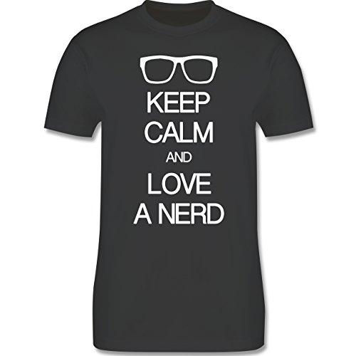 Nerds & Geeks - Keep calm and love a nerd - Herren Premium T-Shirt
