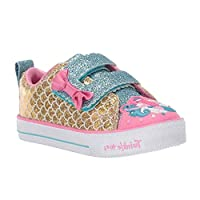 Skechers Twinkle LITE Trainers Girls Gold Low top Trainers