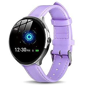 【Neuestes Modell】 Smartwatch mit Pulsmesser Damen Herren, GOKOO Bluetooth Sportuhr Fitnessuhr Intelligente Armbanduhr mit Schrittzähler Pulsmesser Schlafmonitor für Android IOS