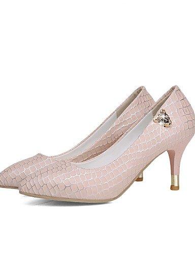 WSS 2016 Chaussures Femme-Bureau & Travail / Décontracté-Bleu / Rose / Blanc-Talon Cône-Talons / Bout Pointu-Chaussures à Talons-Polyuréthane pink-us6 / eu36 / uk4 / cn36