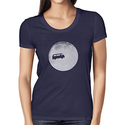 TEXLAB - Full Moon Bulli T3 - Damen T-Shirt Dunkelblau