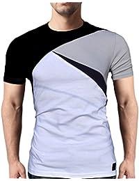 Seven Rocks Men's Round Neck Cotton Tshirt/Tee Four Panelled