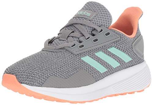 adidas Performance Unisex-Kids Duramo 9 Running Shoe, Grey Heather/Clear Mint/Granite, 6.5 M US Big Kid -
