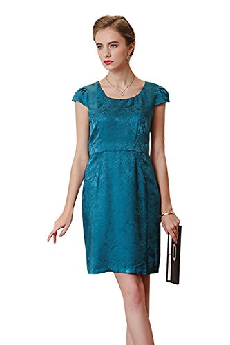voa-womens-violet-blue-black-silk-short-sleeve-scoop-neck-jacquard-midi-tube-dress-a0229
