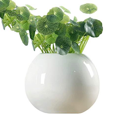 Vase en Céramique Décoration Salon Décoration Créatif Blanc Moderne (Color : Blanc, Size : Small)
