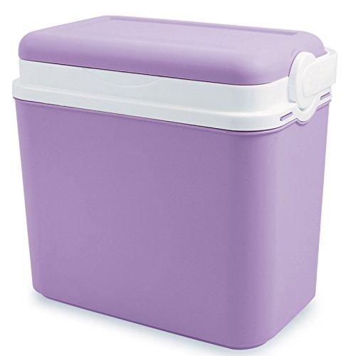 Kühlbox 10 Liter 30x19x28 cm, 6x0,5 UNIfarben, LAVENDEL • Picknick Kühltasche Camping Kühlkorb Kältebox Isolierbox Getränkebox 10L