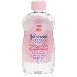 Johnsons & Johnsons Baby Öl - die ideale Pflege für trockene Haut - für Sie und Ihr Baby 300ml
