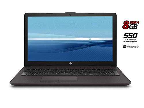 Notebook HP 255 G7 8Gb DDR 4 SSD da 500GB 3D NAND, CPU Amd 7 Gen., con Svga Radeon R3, Display 15.6 HD antiriflesso LED, bt, wi-fi, Windows 10 Pro 64, Office 2019, Pronto all'uso, Garanzia Italia