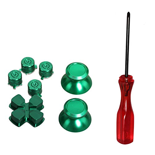 luminium Metall Thumbsticks D-Pad Bullet Buttons Mod Kit für Playstation 4 PS4 Controller (Grünes Set) ()