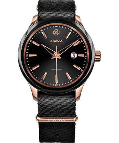 Jowissa Tiro Swiss J4.246.L - Reloj para Hombre, Color Negro y Rosa