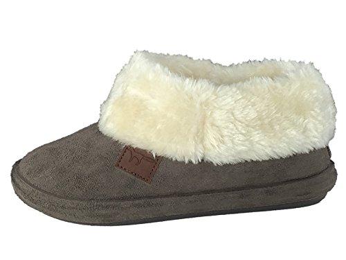 SaneShoppe - Pantofole donna Dk Brown