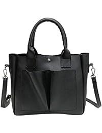 d1ba658e53d5e Deloito Damen Retro Damen Leder Schultertaschen mit Korsett Tasche  Handtasche