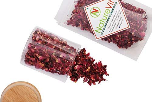 NatureVit Premium Dry Rose Petals - 200g | Rose Dry | Gulab Patti | Rose Petals Dried | (Premium Quality)