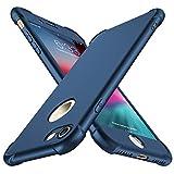 ORETECH Coque iPhone 7, Coque iPhone 8, avec[2 x Protecteur D'écran en Verre Trempé] iPhone 7/8 Housse Hybride Robuste 2 en 1 Antichoc Mince Anti-Rayures PC+TPU pour iPhone 8/7 Case 4.7'' Bleu foncé