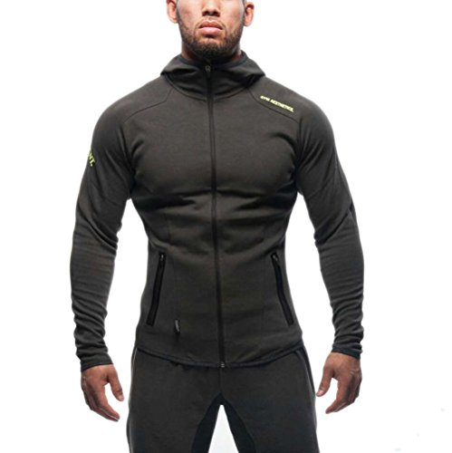 ZEARO Herren beiläufige hoodies fitness trainingsanzüge männer bodybuilding sweatshirt muscle mit kapuze jacken männer, Hoodies 2, (Hoodie Muscle)