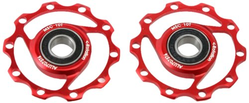 MSC Bikes MSC Ultralight Alu7075 T6. 10D - Rulinas de ciclismo, color rojo anodizado